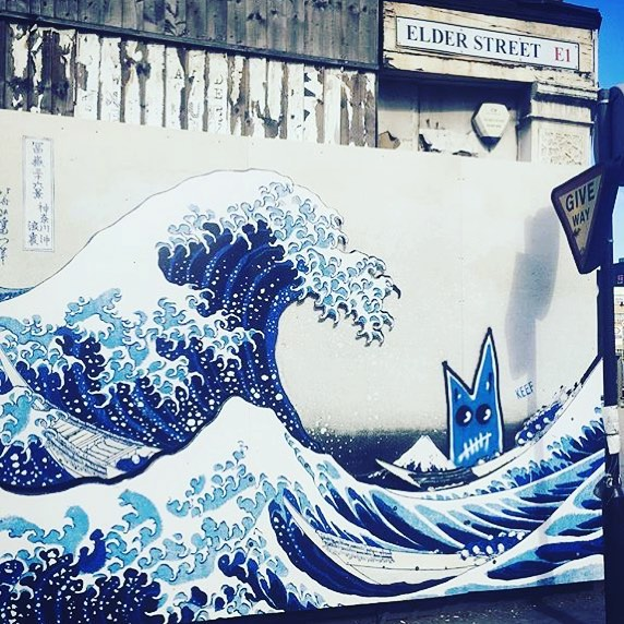 The Great Wave of Kanagawa by #japanese #artist Hokusai Street Art Graffitti #londonart #streetart #urbano #urbanart #streetartistry #streetartrio #stencilart #streetartglobe #artwork #artlovers #streetartrio #arte #streetarteverywhere #streetartfiles #streetart_daily #streetartinsta #artistry #artistsoninstagram #arteemfoco #artista #digitalart #digitalpainting #graphicdesign #parodyart #streetartrio #abstractart #artista #artiste #graffiti #graffittiart #artwork #hokusai