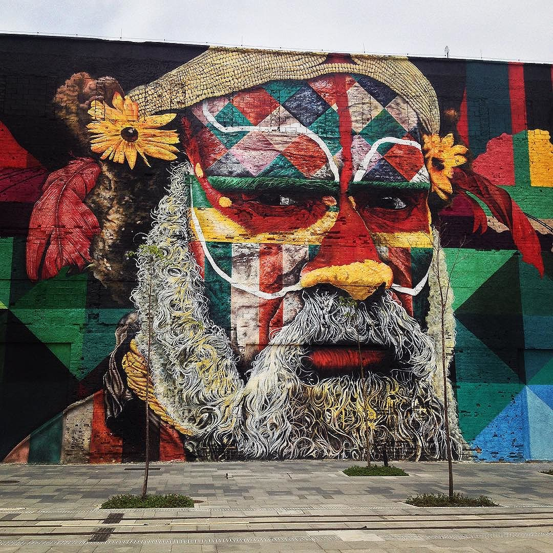 @kobrastreetart thank you for those beautifull faces in Rio, and all those street arts you make all over the world. #riodejaneiro #eduardokobra #aborygen #australia #streetart #olympics #brazil #colorsarebeautiful #artismagic #streetartchangetheworld #streetartrio