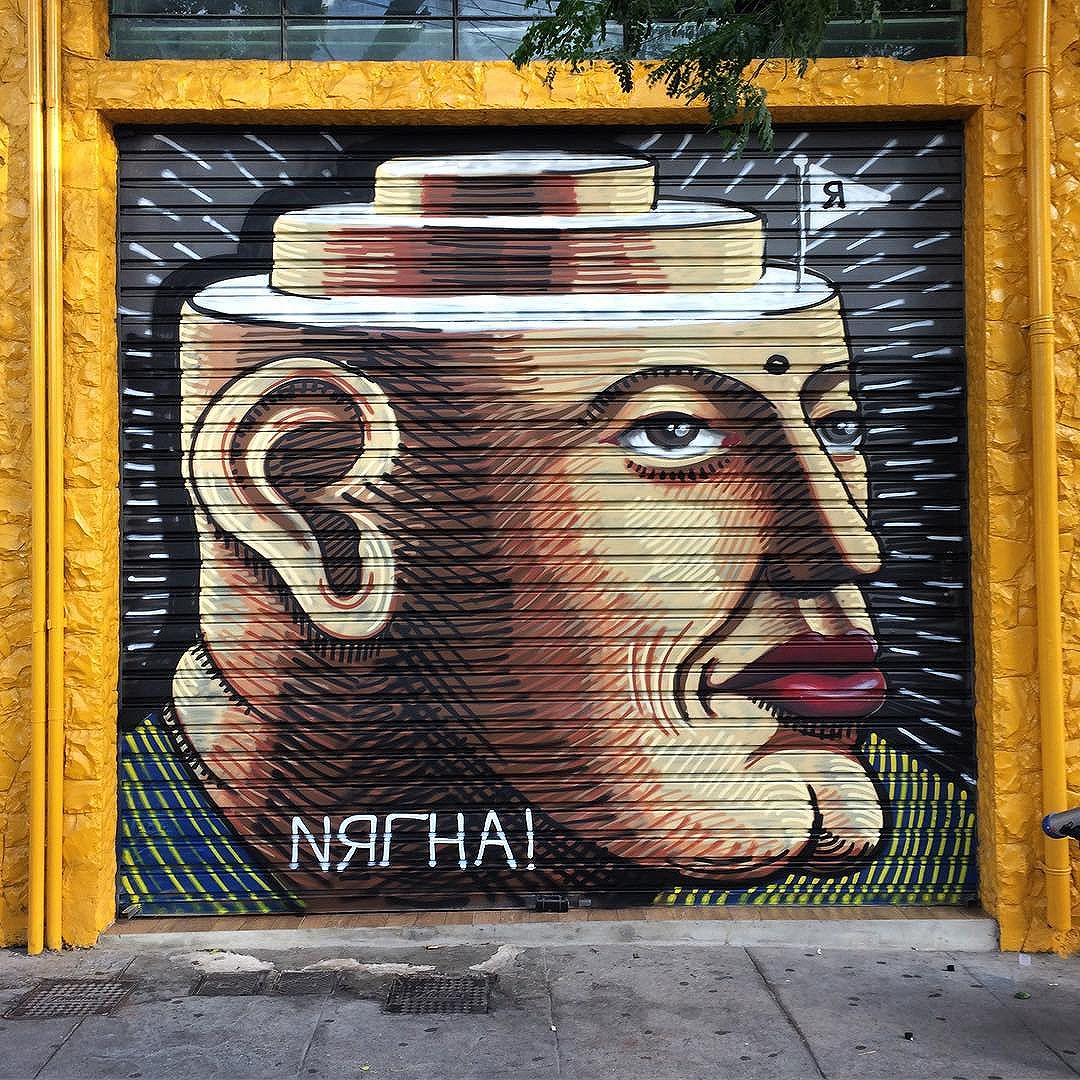 Dr Carlos sentia que sua cabeça diminuía em camadas conforme chegava ao topo. Ele tinha razão. / Dr. Carlos tought his head got smaller as it reached its top. He was right, you know. #treco #doriangray #graffiti #graffitisp #saopaulo #streetartsp  #streetarteverywhere