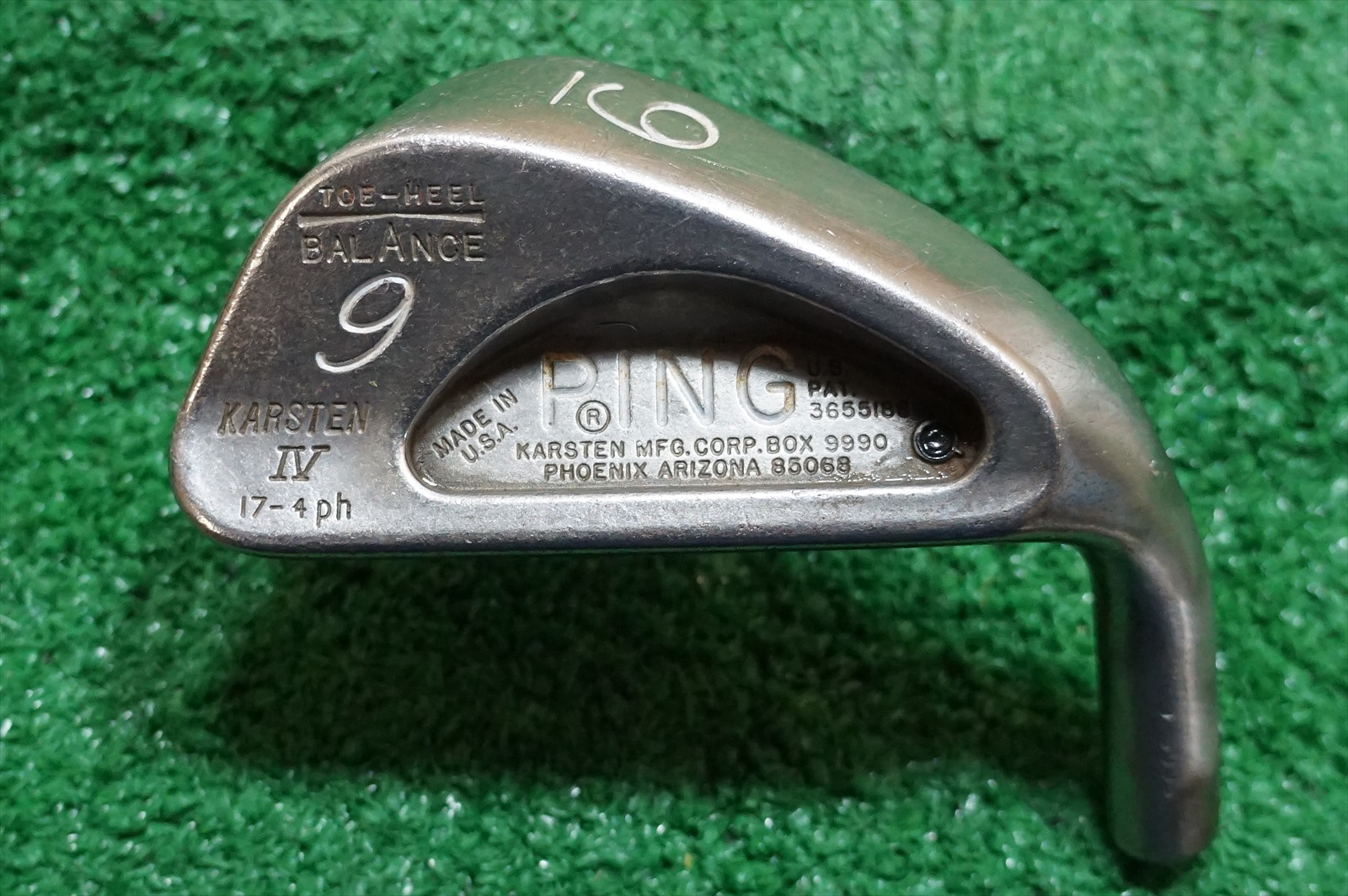 PING KARSTEN IV * #9 IRON CLUB HEAD ONLY 684305