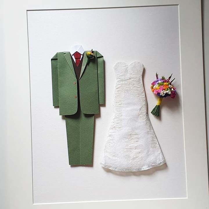 First Wedding Anniversary Gift Ideas - Paper origami