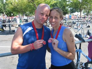 Husband and Wife Triathletes