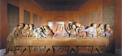 The Last Supper Woodcarving