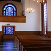 World Christian Fellowship Window and Choir Loft