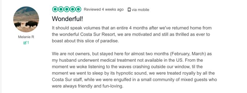 Costa Sur Tripadvisor Reviews