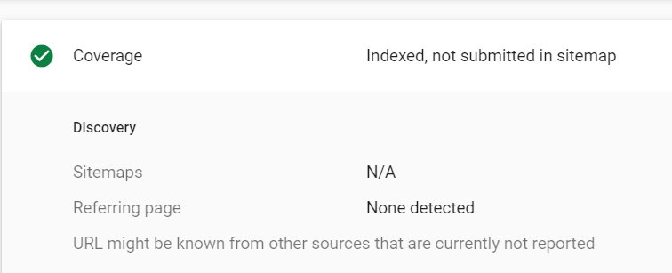 anybody else getting \u0027indexed, not submitted in sitemap\u0027? Sitemap N #10