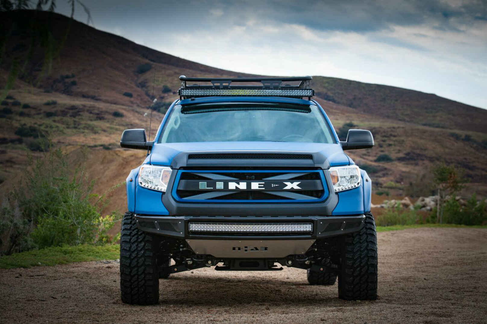 Line-X Coated Tundra