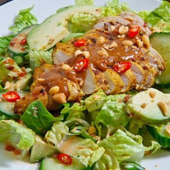 Image for Chicken Satay Salad in Spicy Peanut Dressing