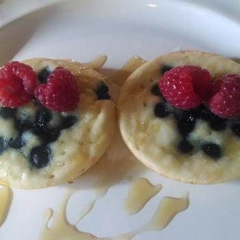 Image for Blueberry Whoopie Pie Pancakes with a Ricotta and Maple Syrup Filling