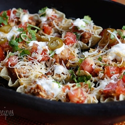 Image for Skinny Loaded Nachos with Turkey, Beans and Cheese