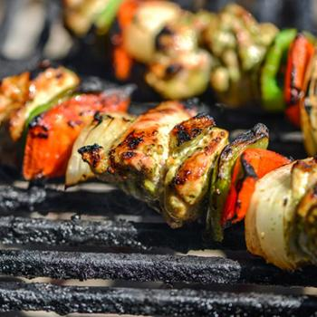 Image for Cilantro-and-Lime Marinated Chicken Fajita Kebabs
