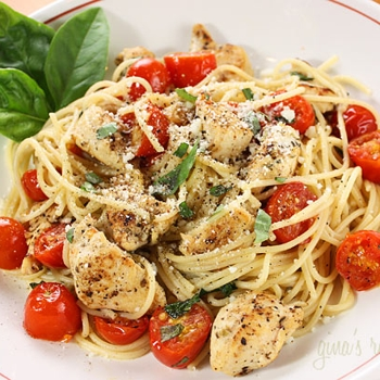 Image for Spaghetti with Sauteed Chicken and Grape Tomatoes