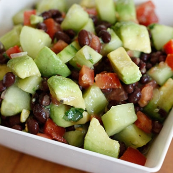 Image for Black Bean, Avocado, Cucumber and Tomato Salad