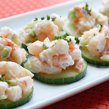 Image for Shrimp Salad on Cucumber Slices