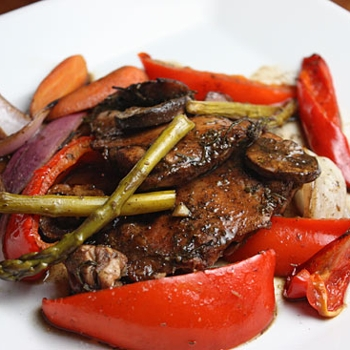 Image for Balsamic Chicken with Roasted Vegetables