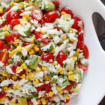 Image for Summer Tomatoes, Corn, Crab and Avocado Salad