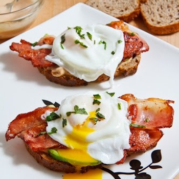 Image for Poached Egg on Toast with Chipotle Mayonnaise, Bacon and Avocado