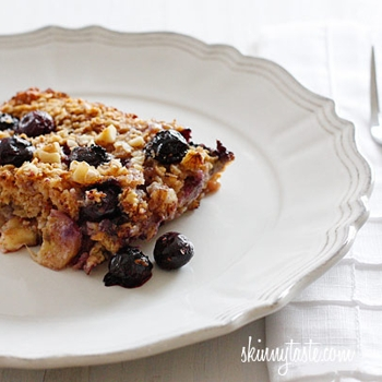 Image for Baked Oatmeal with Blueberries and Bananas