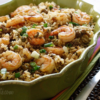 Image for Dirty Brown Rice with Shrimp