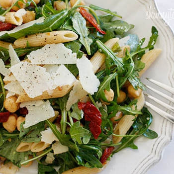 Image for Arugula Salad with Penne, Garbanzo Beans and Sun Dried Tomatoes