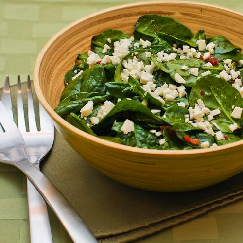 Image for Spinach Salad Recipe with Bacon and Feta