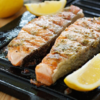 Image for Grilled Garlic Dijon Herb Salmon