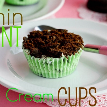 Image for Thin Mint Ice Cream Cups