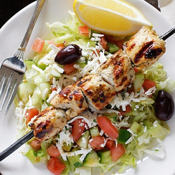 Image for Mediterranean Chicken Kebab Salad