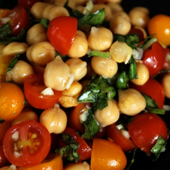 Image for Chickpea and Tomato Salad with Fresh Basil