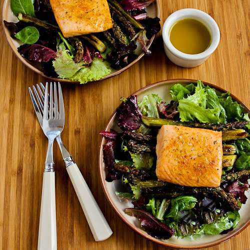 Image for Roasted Salmon and Asparagus Salad with Mustard Vinaigrette