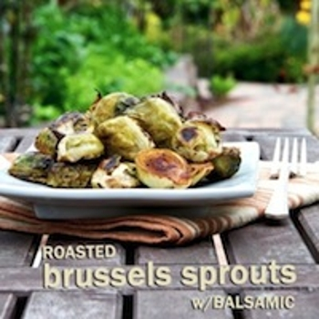 Image for Roasted Brussels Sprouts w/ Balsamic Vinegar Recipe