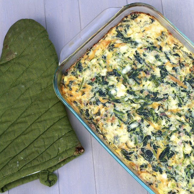 Image for Cheddar, Bacon and Spinach Egg Casserole
