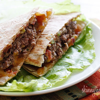 Image for Skinny Buffalo Burger Quesadilla