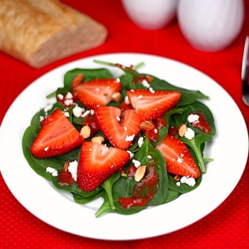Image for Strawberry Spinach Salad with Strawberry Dressing