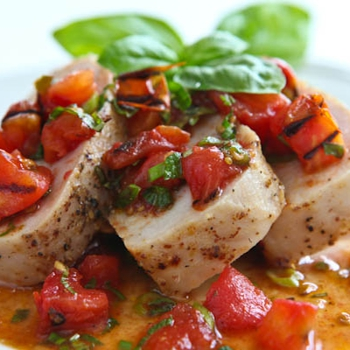Image for Pork Tenderloin with Warm Grilled Tomato Salsa