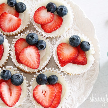 Image for Red, White and Blueberry Cheesecake Yogurt Cupcakes