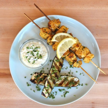 Marinated Fish Skewers