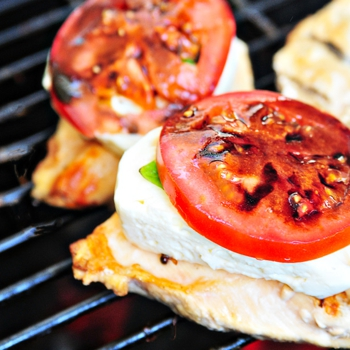 Image for Caprese Grilled Chicken with Balsamic Reduction Recipe