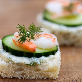 Image for Shrimp, Brie and Cucumber Tea Sandwiches