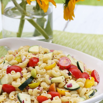 Image for Summer Macaroni Salad with Tomatoes and Zucchini