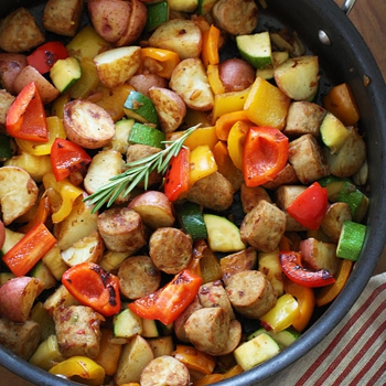 Image for Summer Vegetables with Sausage and Potatoes
