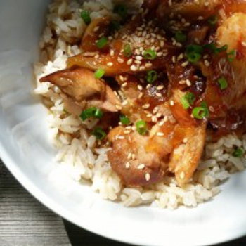 Gluten Free Dairy Free Honey Bourbon Chicken in the Slow Cooker