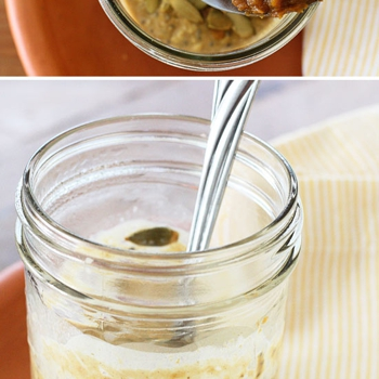 Image for Skinny Pumpkin Overnight Oats in a Jar