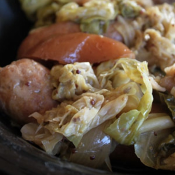 Image for Cabbage, Sausage and Apple Beer Stew