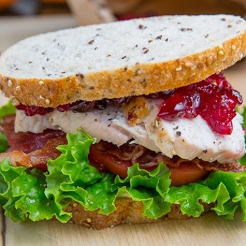 Image for Roast Turkey Club Sandwich with Cranberry Sauce