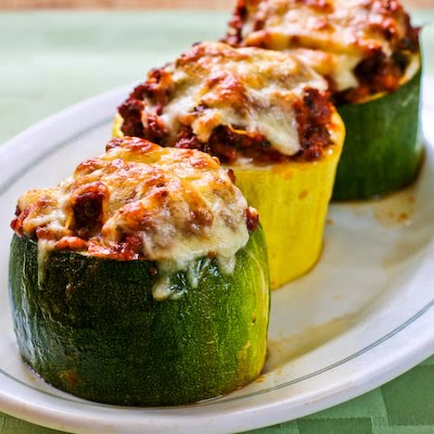 Image for Meat, Tomato, and Mozzarella Stuffed Zucchini Cups