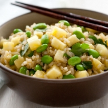 Pineapple-Ginger Rice with Edamame