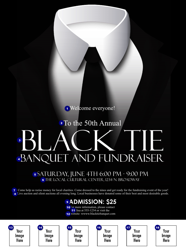 Black Tie Event Invitation for best invitations layout