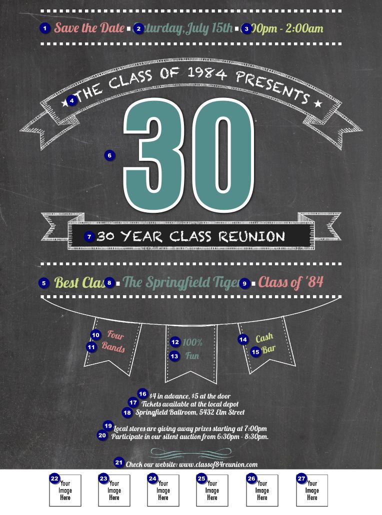 class reunion logo flyer
