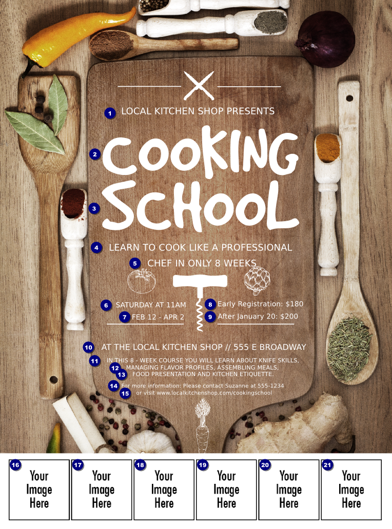 Cooking School Logo Flyer